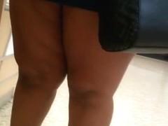 BBW thighs in mini skirt