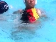 Waterpolo oops from german girl