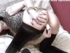 Dildo Sex in Wetlook Leggins