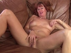 Amateur sporty mom next door makes home video