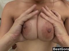 Nice Boobs On This Hot Brunette Slut