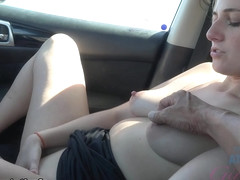 Kate England in You Got Down Inside Of The Car Kate Takes In A Good Creampie - ATKGirlfriends