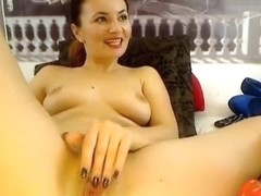 Melodysquirt slowly fucks her pussy
