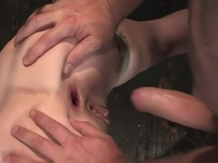 Trinity is amazing in first time boy/girl bondage sex.
