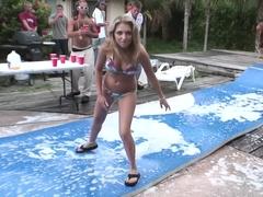 Amazing pornstar Jaelyn Fox in crazy outdoor, blonde sex scene