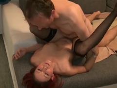 Exotic pornstar Natalie Hot in Incredible European, Redhead sex clip