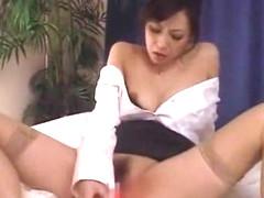 Incredible Japanese chick Natsumi Horiguchi in Best Solo Girl, Secretary JAV scene