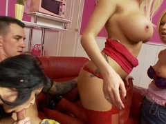 Crazy pornstars Stacey Lacey, Antonia Deona and Anna Joy in hottest dildos/toys, group sex xxx vid.