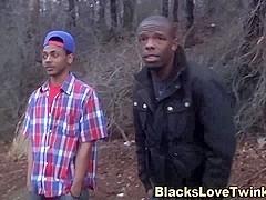Teen threeway black cock