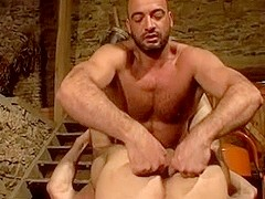 Two Horny Gay Neighbors Having A Wild Sex In The Basement