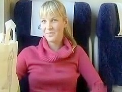 immature busted blowing on the train