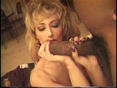 Sweetheart in heat pounded by a large dark rod
