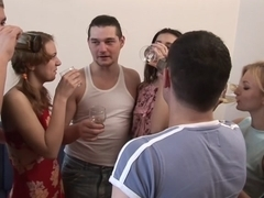 Intensive college student fucking and lavish ejaculation