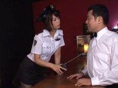 Nanami Kawakami naughty police officer fucks with the chief