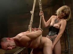 Bitch Boy in a Barn: Lifestyle Dominatrix Abuses and Fucks Slave Boy