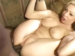 Busty Adrianna Nicole welcomes a long black cock deep in her butt hole