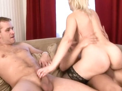 Samantha White in a hot orgy with blowjobs and hard pussy banging