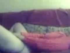 Hidden cam in living room caught mummy masturbating
