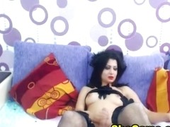 Gorgeous Shemale Enjoys Giving Her Viewers a Huge Boner