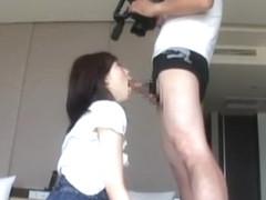 Crazy Japanese chick Chika Arimura, Ayano Umemiya, Miki Sunohara in Hottest Handjobs, Dildos/Toys .