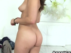 Fake agents big cock fucks brunette babe in casting