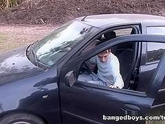 BangedBoys Video: Car Action