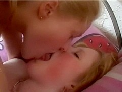 alluring non-professional lesbo teenies 1st time