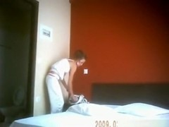 Hot streetslut fucks a client in a hotelroom