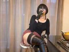 Hot Milf in Thigh Boots Blowjob training