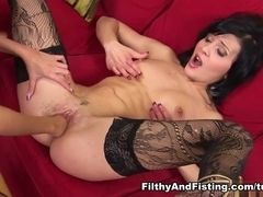 Diana Dee in She Gets Her Black Dildo Out - FilthyAndFisting
