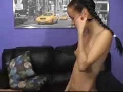 Pigtail legal age teenager takes anal.