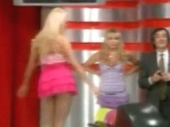 Hot upskirt video of a blond chick bowling