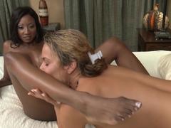 Amazing pornstars Diamond Jackson, Elexis Monroe in Crazy Black and Ebony, Cunnilingus adult video