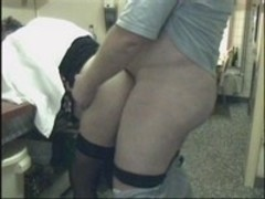 Mature doctor gets humped