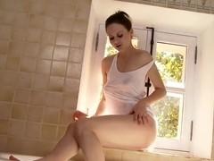 Tina Kay shows her hot stuff on camera
