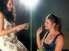 Karina and Cody smoking lesbian seduction