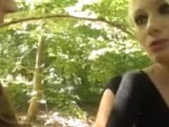 Outdoor public caught interracial sex in the woods