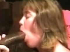 Wife Gloria enjoying BBC 1 - Making the cock hard