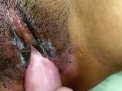 Old man rub the clit of a pattaya girl with his dick