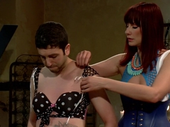 Slave pimped out to suck construction worker dick for Maitresse Madeline