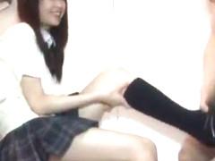 Hottest Japanese chick Uta Kohaku in Fabulous Foot Job/Ashifechi JAV scene