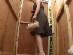 Hidden toilet voyeur with japanese girls