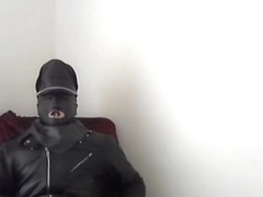 leather biker greyland mask rubber black smoking