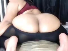 Brunette Cocksuckingslutx shows her ass