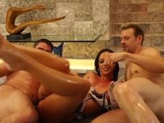 Crazy pornstar Cody Lane in incredible swallow, brunette porn clip