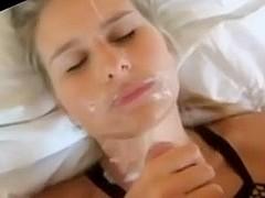 Hot blonde girlfriend homemade cumshots  compilation