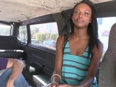Hot black chick Tiffany Tailor gets screwed in van
