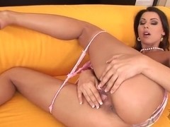 Cindy Hope Klaudia stretching her wet pussy