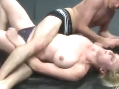 Pamela vs Mickey -mixed wrestling-