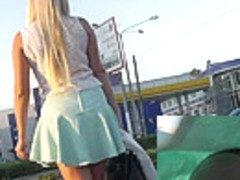 Skinny blonde lady in the free upskirt pictures